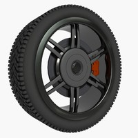 tire wheel custom 3d max
