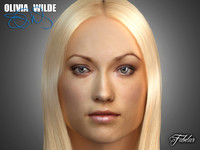 olivia wilde head 3d obj