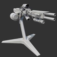 sentry gun 3d max