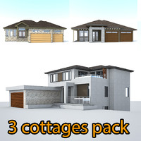 3ds max 3 cottage houses