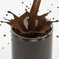 splash chocolate in glass 01