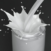 3ds max splash milk glass