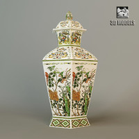 3d chinese vase classic