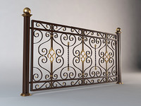 3d model forged fence