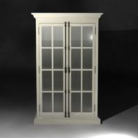 french casement cabinet 3d model