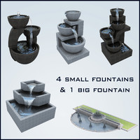3d fountain basin