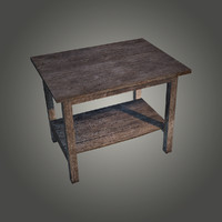 fbx old wooden table