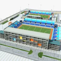 hockey stadium 3d model