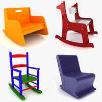 child rocking chair kids dxf