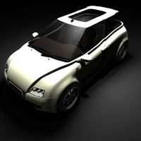 hatchback cars concept infatuation 3d model