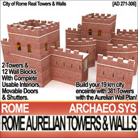 Rome City Towers Walls Aurelian