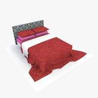 3ds max bed red