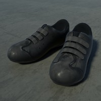 ready biking shoe 3d model
