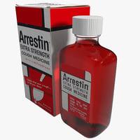 cough medicine 3d model