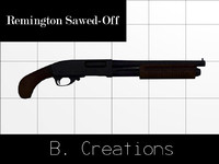 remington sawed-off 3d max