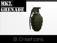 3d mk2 frag grenade