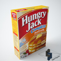 hungry jack pancake 3d model