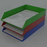 Paper tray document organizer