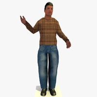 realistically standing african male 3d model