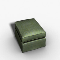 3d model ottoman upholstery ped