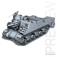3d model m7 priest - howitzer
