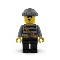 3d crook minifigure