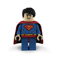 3d superman super heroes lego model