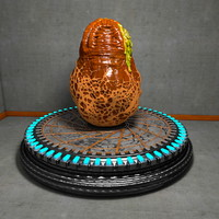 Slimy Alien Egg on a Presentation Platform Stage