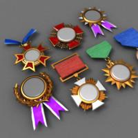 Achivment medals set