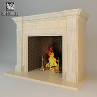 fireplace alexandria 3d model