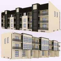 3d model of house town townhouse