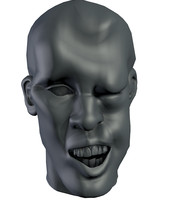 3d model head man beat