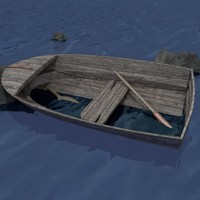 abandoned boat obj