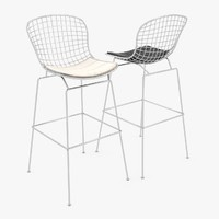 3ds max modern bertoia barstool