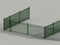 fence cloture valla 3d model