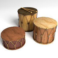 3d drums set model