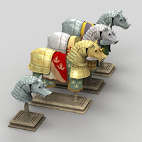 3d model horse armor