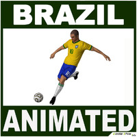 3d model brazil soccer player cg