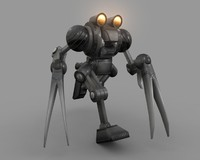 bird poseable metal obj