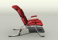 chair armchair red 3ds