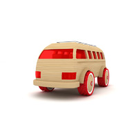 3d model wooden toy car