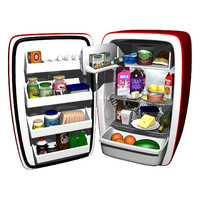 cartoon refrigerator 3d ma