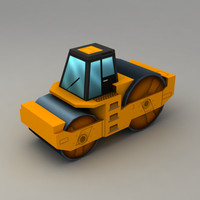 Asphalt Roller low poly