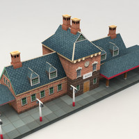 3ds max railway station
