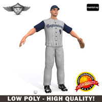 3d baseball player model