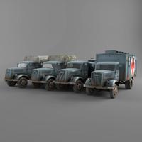 3d opel blitz truck model