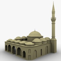 3d model usak ulu cami