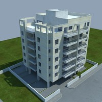buildings 2 10 3d model