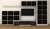 3d tv cabinet wall model