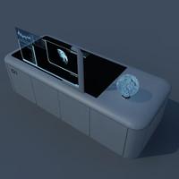 3dsmax sci fi desk